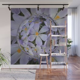 Crocus Orb - Abstract Floral Photography by Fluid Nature Wall Mural