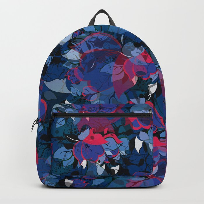 Abstract Floral Backpack