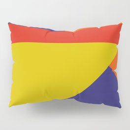 Random colored parallelepipeds flying in a cool blue space Pillow Sham