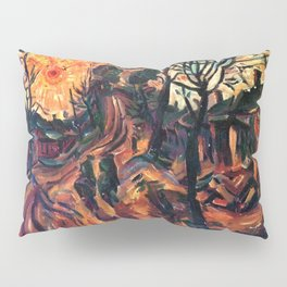 African American Masterpiece Landscape with Sun Setting, Florence, S.C. by William Henry Johnson Pillow Sham