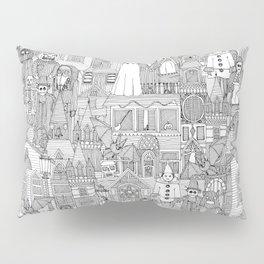 vintage halloween black white Pillow Sham