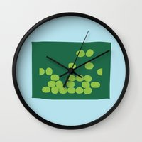 kiwi Wall Clocks featuring Kiwi by Mungo
