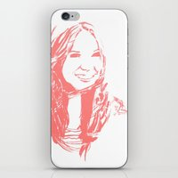 karen hallion iPhone & iPod Skins featuring Karen Gillan by josie leigh