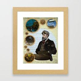 Jules Verne, a Steampunk vision Framed Art Print