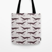 dogs Tote Bags featuring Dogs by Linette No