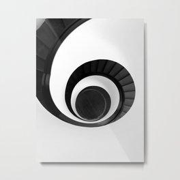 black-spiral-stair Metal Print