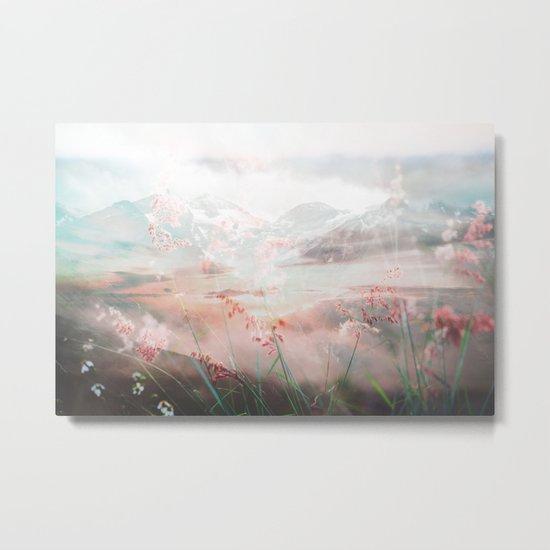 Melting Petals Metal Print