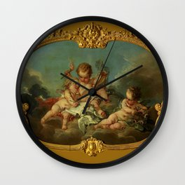 "François Boucher ""Allegory of Lyric Poetry"" Wall Clock"