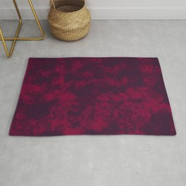 Burgundy Marble Flames, Abstract Art in Dark Purple and Bright Red Colors  Rug