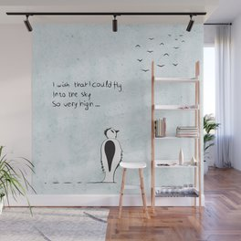 I wish that I could fly Wall Mural