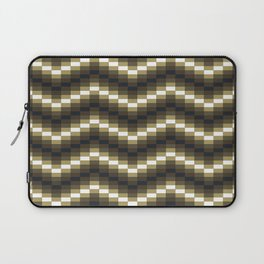 Block Wave Illustration Artwork Laptop Sleeve