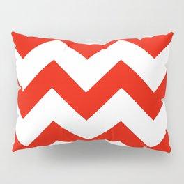 Red Line Patterns Pillow Sham