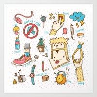 salaryman lifestyle Art Print