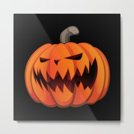 Jack O' Lantern Halloween Pumpkin Metal Print