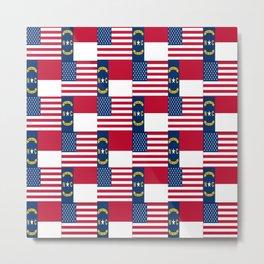 Mix of flag: Usa and north carolina Metal Print