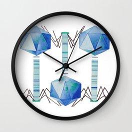 Bacteriophage 2, Science art, science, virus, microbiology, virology, geekery, science illustration Wall Clock