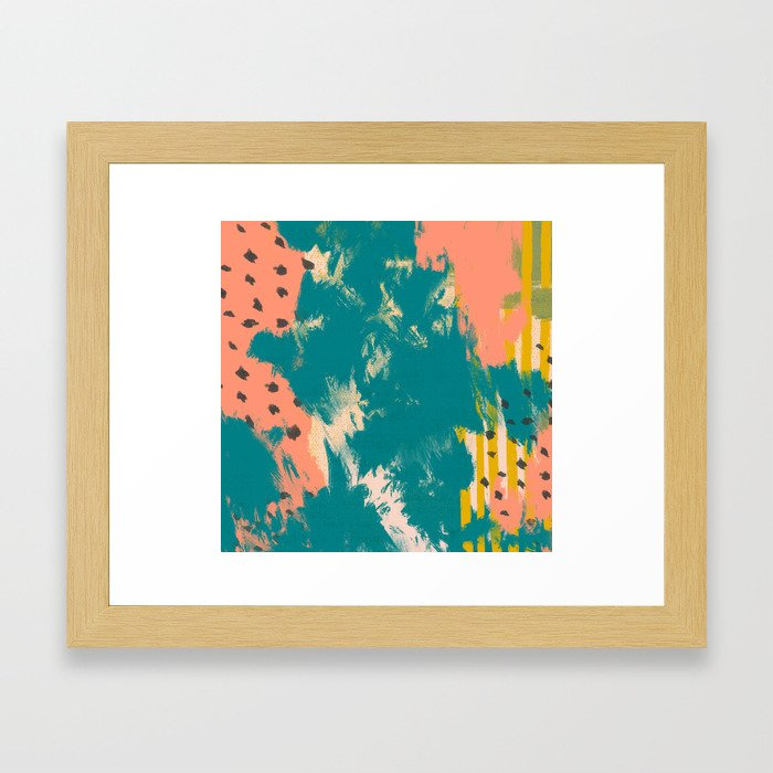 peachy summer Framed Art Print