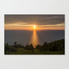sunset nova scotia Canvas Print