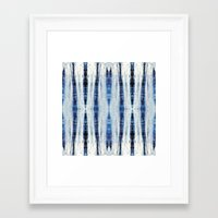nori Framed Art Prints featuring Nori Blue by Nina May Designs