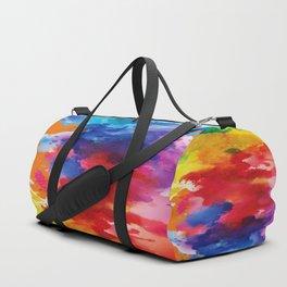 Watercolor Summer Duffle Bag