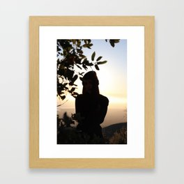 Mysterious Beanie Girl Framed Art Print