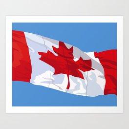 CANADIAN FLAG 01. Art Print