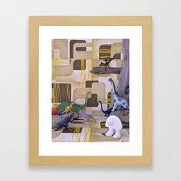 Au temps de la Préhistoire Framed Art Print