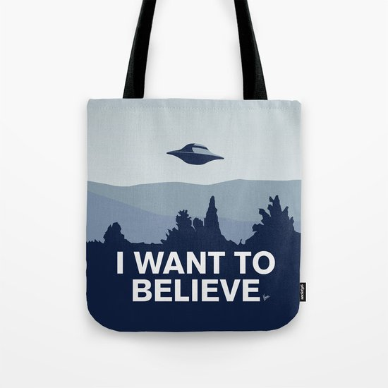My X-files: I want to believe poster Tote Bag