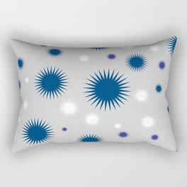 Star Burst Galaxy - Grey Blue White Rectangular Pillow