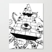pyramid Canvas Prints featuring Pyramid by FactoriesFarAway