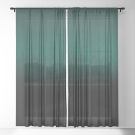 Emerald Ombré Sheer Curtain