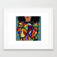 big poppa Framed Art Prints featuring Big Poppa by Hannah  Aryee