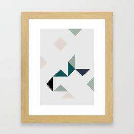 Triangle Marble Framed Art Print