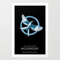 mockingjay Art Prints featuring Mockingjay by Diego Guzman