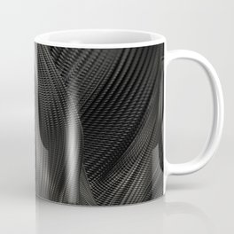 Black Steel Abstraction Coffee Mug