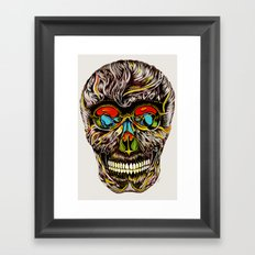 Colorful Skull  Framed Art Print