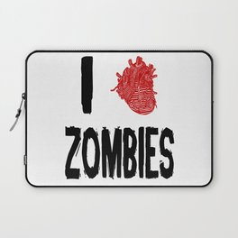 I Love Zombies with a Heart to replace the word Love Laptop Sleeve