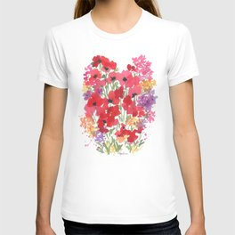 Little Red Poppy Patch T-shirt