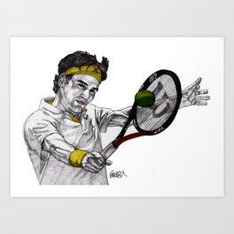 Tennis Federer Art Print