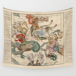 Ignace-Gaston Pardies - Globi coelestis Plate 2: Cetus, Aquarius, Andromeda 1693 Wall Tapestry