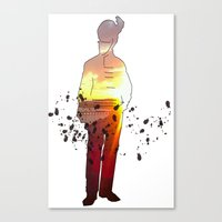 soldier Canvas Prints featuring Soldier by CAtsNDresses
