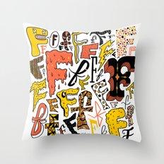 F's Throw Pillow