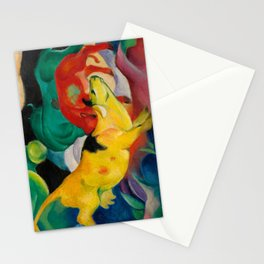 Franz Marc - Kühe, Gelb, Rot, Grün - Cows, Yellow, Red, Green - The yellow Cow Stationery Cards
