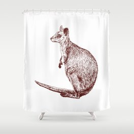 Swamp Wallaby Shower Curtain