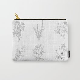 Botanical Illustration Carry-All Pouch