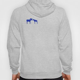 Graphic Kissing Swedish Moose Hoody