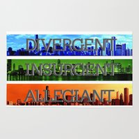 divergent Area & Throw Rugs featuring Divergent by All Things M