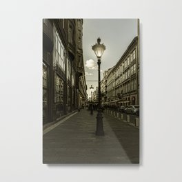 Budapest Night Lights Metal Print