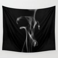 smoke Wall Tapestries featuring Smoke by Dora Birgis