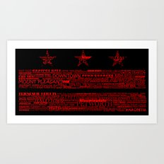 DC Flag Red Art Print